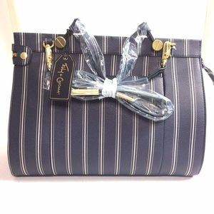 Foley + Corinna Large Dione Satchel Blue Striped